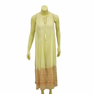8732 Free People Full Of Love Ivory Maxi Dress S